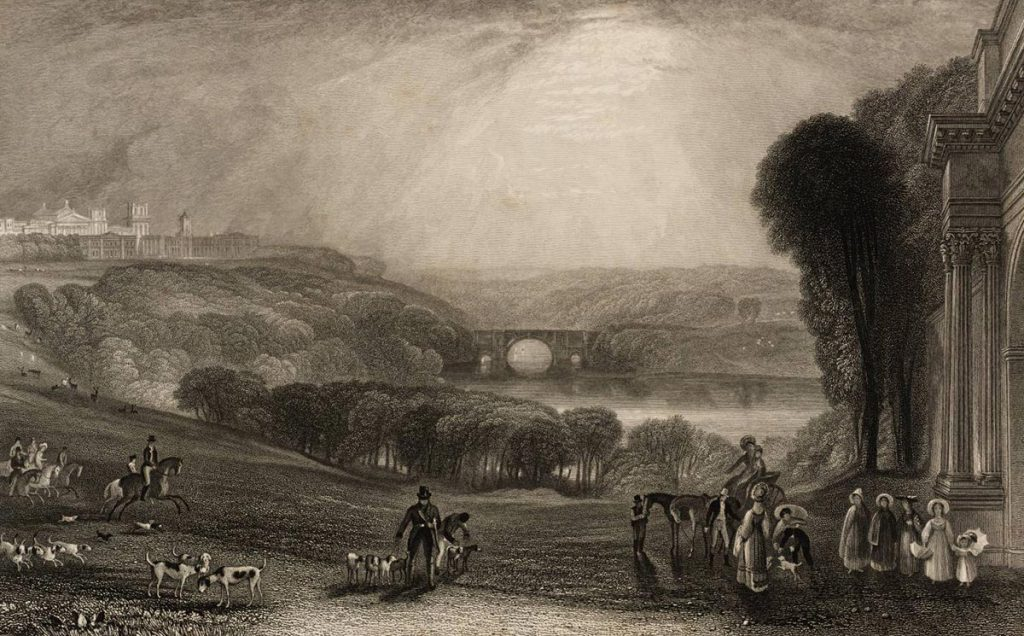 Blenheim Palace Engraved by W. Radclyffe