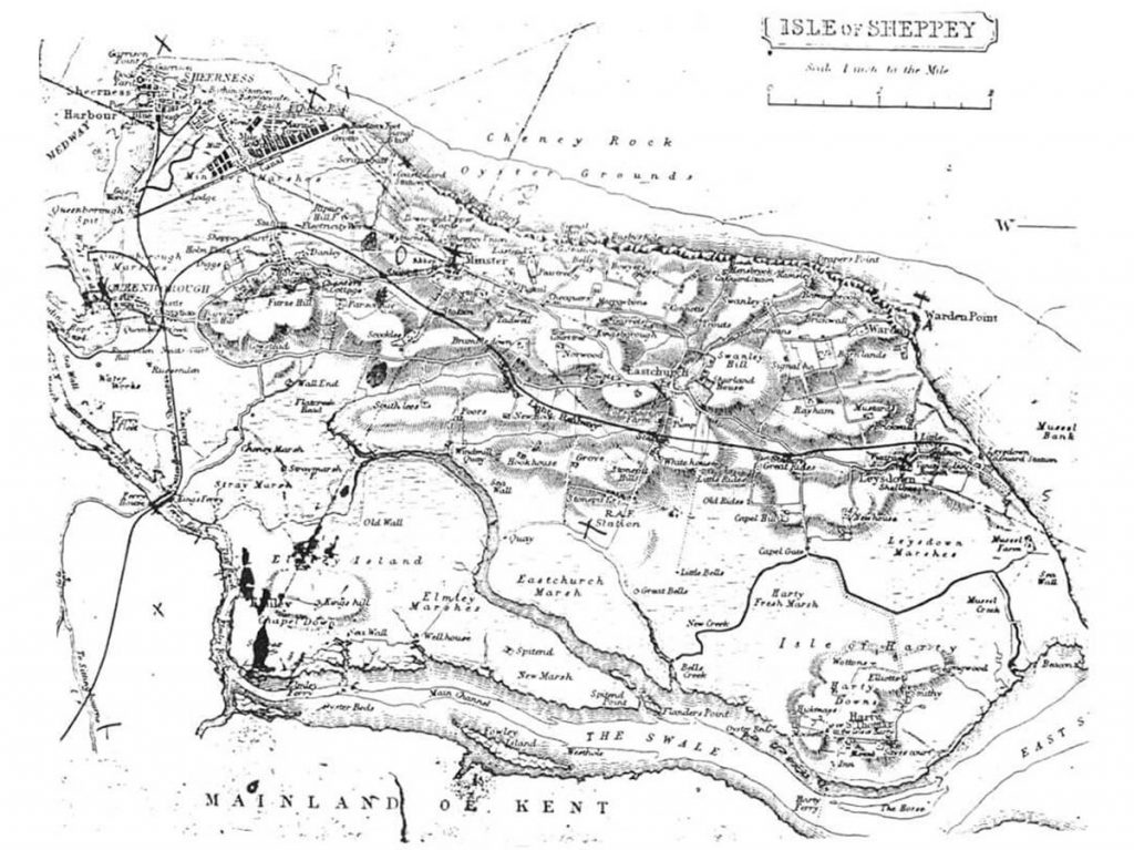 Historic Map of Isle of Sheppey