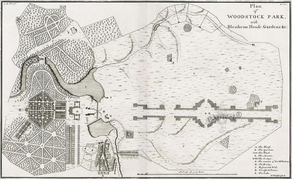 Colen Campbell's Blenheim Plan 1715