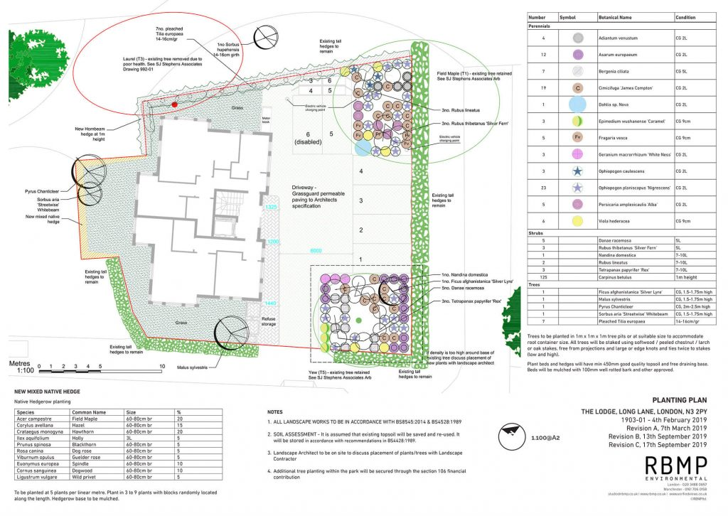 Image of Long Lane Landscape Design Plan