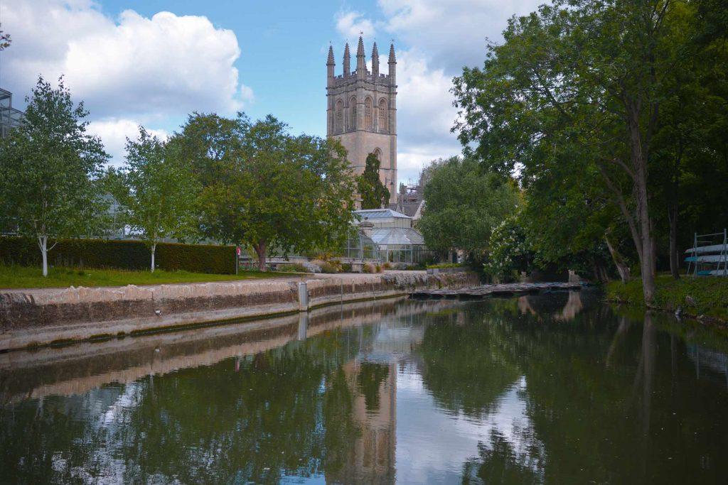 The River Cherwell and St Clement's Church